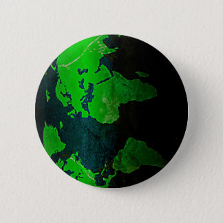 Map World Digital Earth Geography Green Shine Styl 6 Cm Round Badge