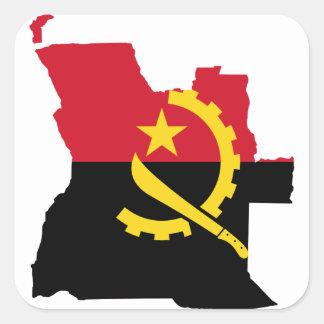 Mapa Angola Adesivo Quadrado