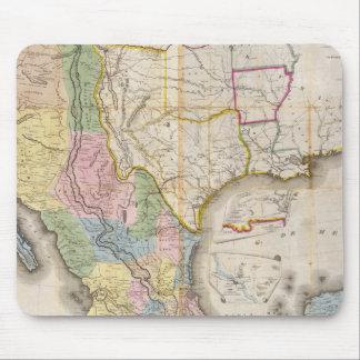 Mapa de los Estados Unidos De Mejico Mouse Pad