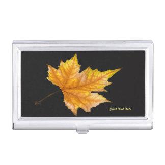 Maple Autumn Leaf Business Card Holder