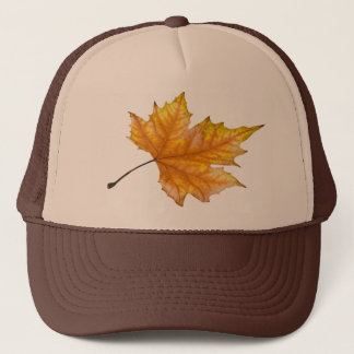 Maple autumn leaf trucker hat