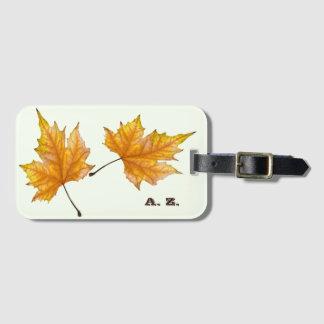 Maple autumn leaves luggage tag