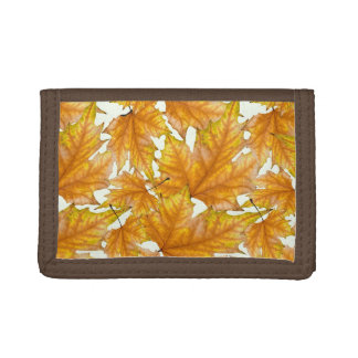 Maple autumn leaves tri-fold wallet