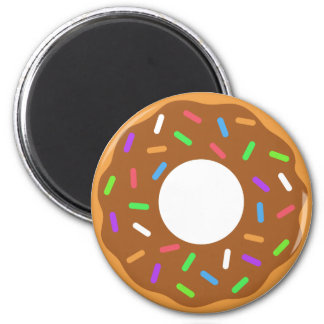 Maple Donut  with Sprinkles Magnet