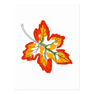 Maple Fall Leaf Postcard
