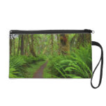 Maple Glade trail, ferns and moss covered Wristlet Clutch