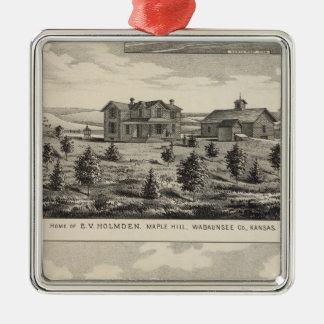 Maple Hilland Silver Spring Ranch, Kansas Christmas Ornament