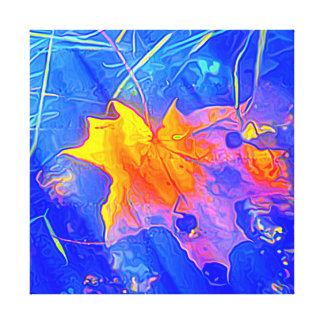 Maple leaf abstract canvas print