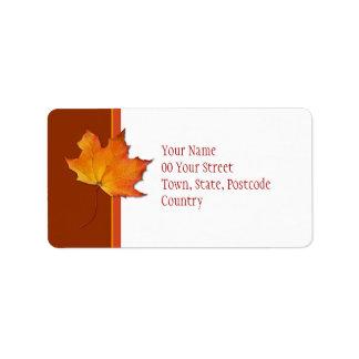 Maple Leaf Address Label