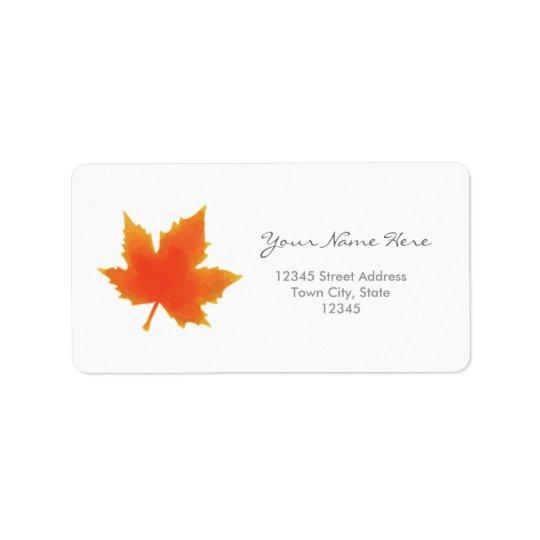 Maple Leaf Address Labels