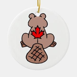 Maple Leaf Beaver Ornament