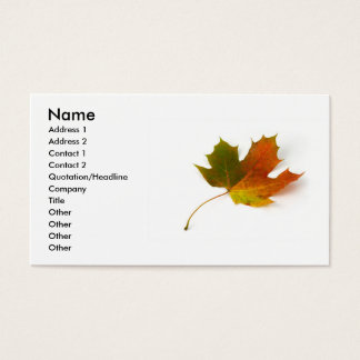 Custom maple leaf business cards zazzlecouk for Leaf business cards