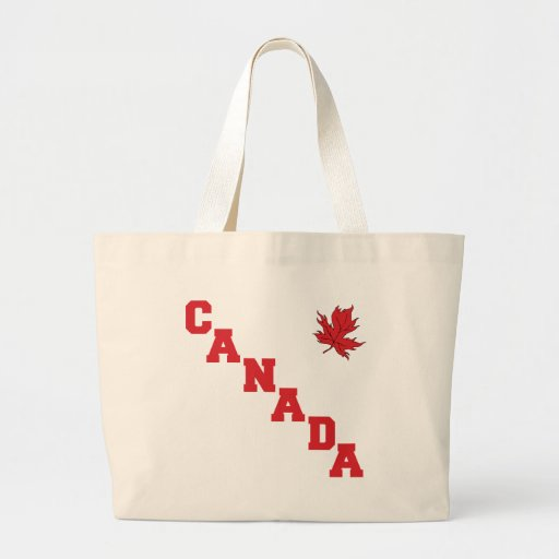 Maple Leaf Canada Canvas Bags
