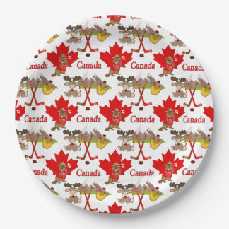 Maple Leaf Canadian 150 Anniversary Paper Plate
