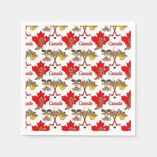 Maple Leaf Canadian Disposable Serviette