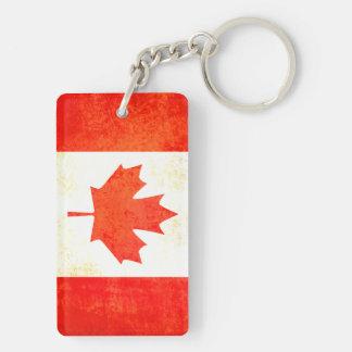 Maple Leaf Canadian flag keychain