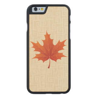 Maple Leaf Carved Maple iPhone 6 Case