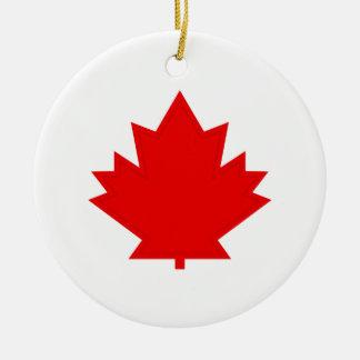 Maple Leaf Christmas Ornament