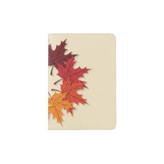 Maple leaf circle passport holder