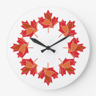 maple leaf design clock
