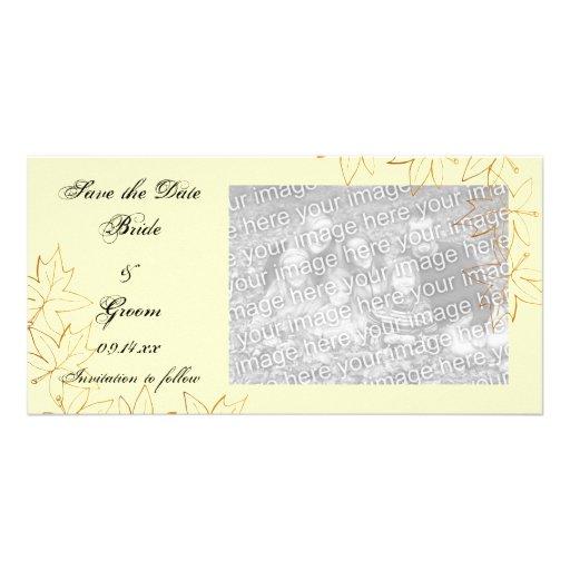 Maple Leaf Edge Wedding Save the Date Photo Card