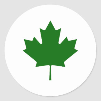 Maple Leaf Green DkTransp The MUSEUM Zazzle Gifts Sticker