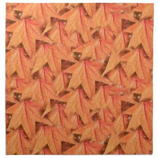 maple leaf in the autumn napkin
