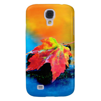 Maple leaf in the Swift River Galaxy S4 Case
