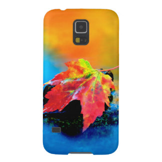Maple leaf in the Swift River Case For Galaxy S5