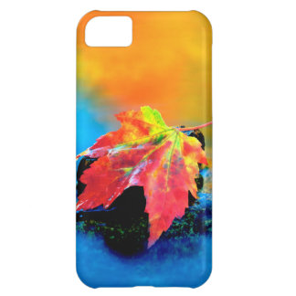 Maple leaf in the Swift River iPhone 5C Case