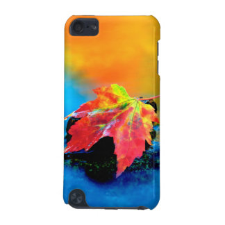 Maple leaf in the Swift River iPod Touch (5th Generation) Cover