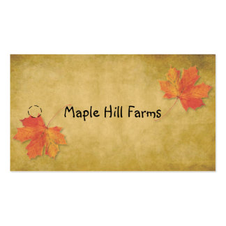Maple Leaf Maple Syrup Hang Tag Pack Of Standard Business Cards