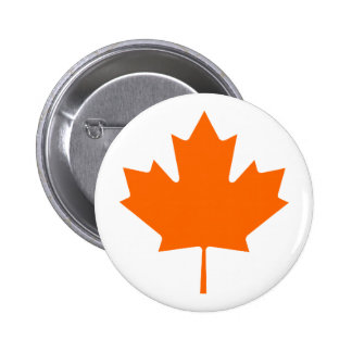 Maple Leaf OrangeBrTransp The MUSEUM Zazzle Gifts 6 Cm Round Badge