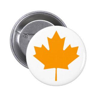 Maple Leaf OrangeTransp The MUSEUM Zazzle Gifts 6 Cm Round Badge