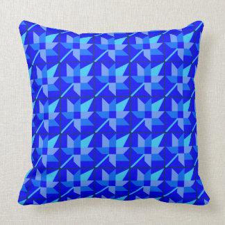 Maple Leaf Patchwork Design - Blue Shades Cushion