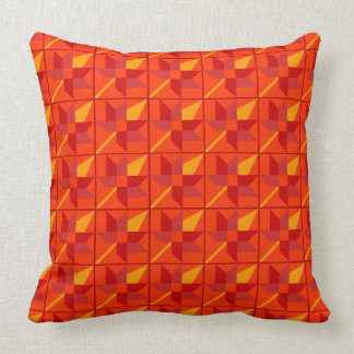 Maple Leaf Patchwork Design - Red Shades Cushion