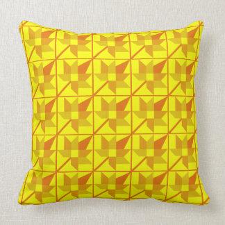 Maple Leaf Patchwork Design - Yellow Shades Cushion