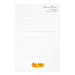 fall writing paper template