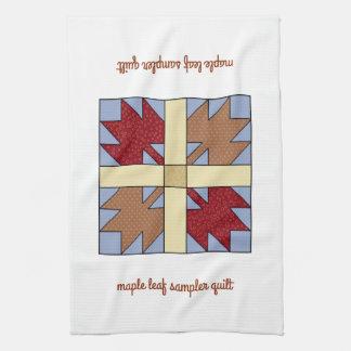 Maple Leaf Sampler Quilt Kitchen Towel