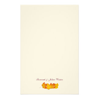 Maple Leaf Signature Fall Themed Writing Paper