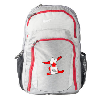 Maple Leaf SNOWBOARDER (blk) Backpack
