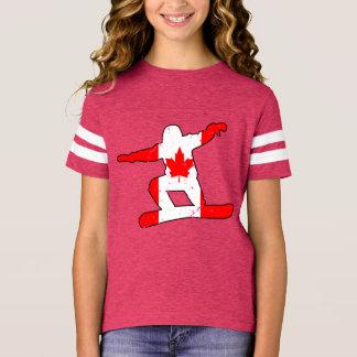 Maple Leaf SNOWBOARDER (blk) T-Shirt