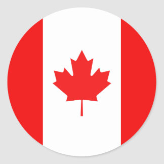 Maple Leaf Symbol Classic Round Sticker