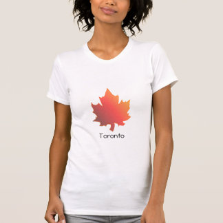 Maple leaf , Toronto, woman's t -shirt T-Shirt