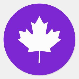 Maple Leaf  White Transp The MUSEUM Zazzle Round Sticker