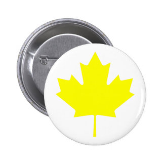 Maple Leaf YellowTransp The MUSEUM Zazzle Gifts 6 Cm Round Badge