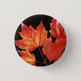 Maple Leaves 3 Cm Round Badge