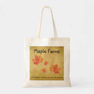 Maple Leaves Business Tote Bag