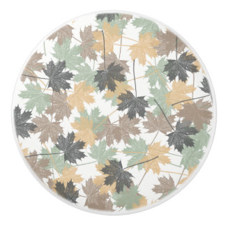 MAPLE LEAVES CERAMIC KNOB