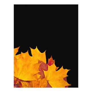 Maple leaves flyer